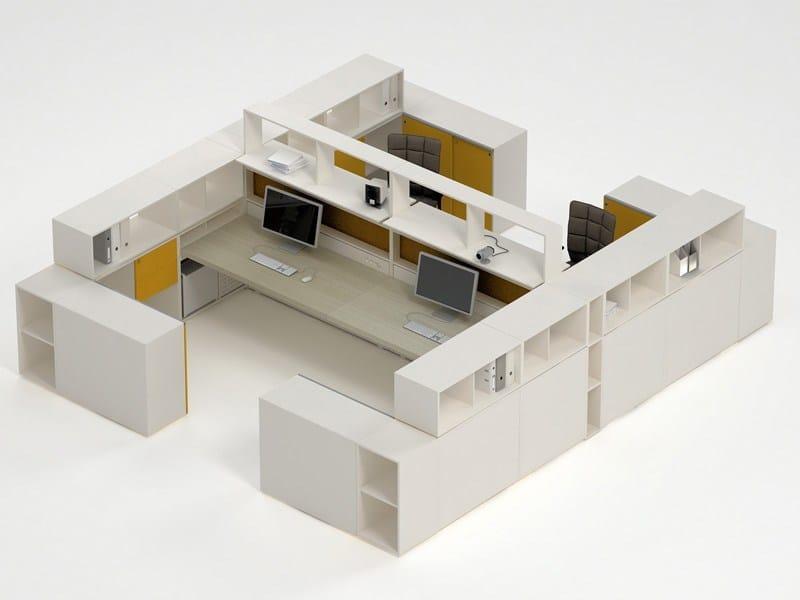 Multiple office workstation COMBI by ESTEL GROUP