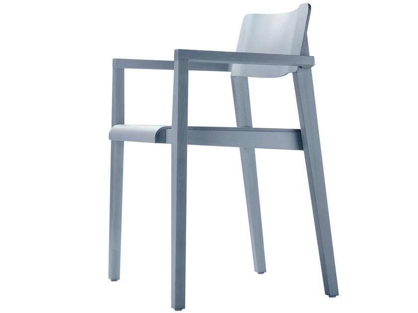 Stackable solid wood chair 330 FST by THONET