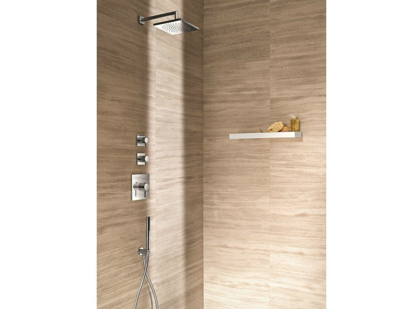 3 hole thermostatic shower mixer with hand shower CAFÈ | Thermostatic shower mixer by Fantini Rubinetti