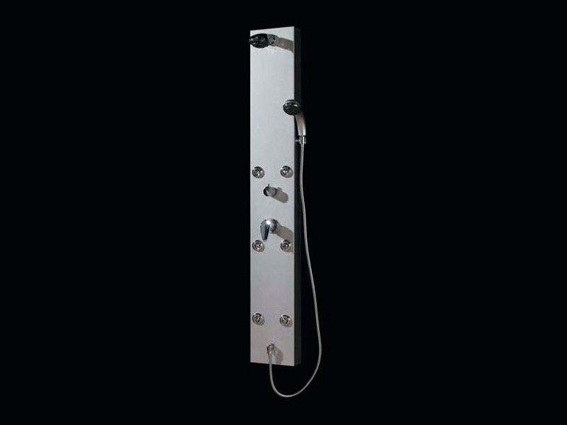 Aluminium shower panel with overhead shower ECO by Aquassent