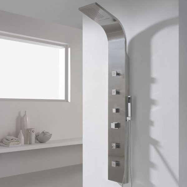 Stainless steel shower panel MELIANA by Aquassent