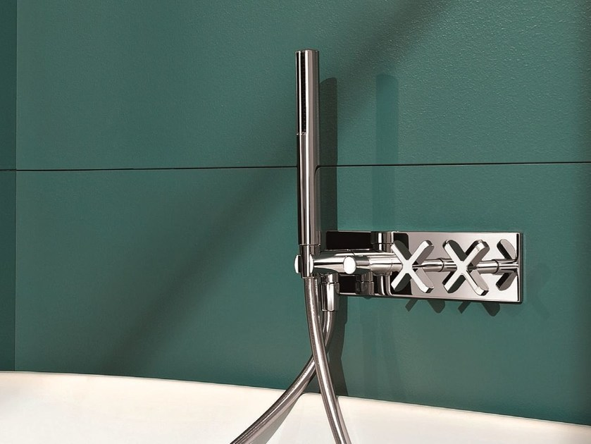 Wall-mounted bathtub tap with plate RIVIERA | Wall-mounted bathtub tap by Fantini Rubinetti