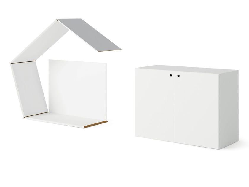 Low MDF office storage unit QUARANTA5 | Office storage unit by FANTONI