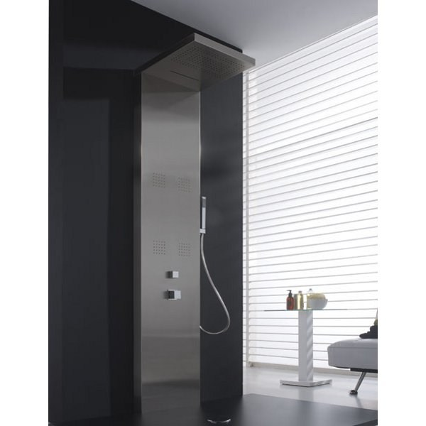 Stainless steel shower panel with overhead shower VALENCIA by Aquassent