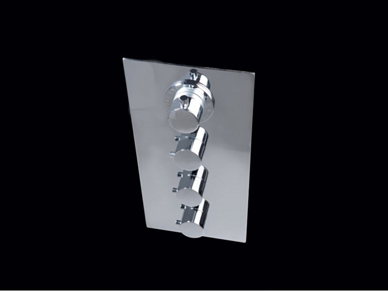 4 hole thermostatic shower tap MELILLA | 4 hole shower tap by Aquassent