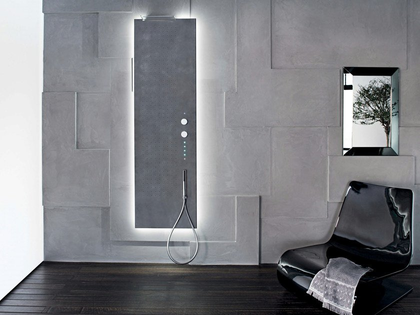 Wall-mounted multifunction shower panel ACQUAPURA | Wall-mounted shower panel by Fantini Rubinetti