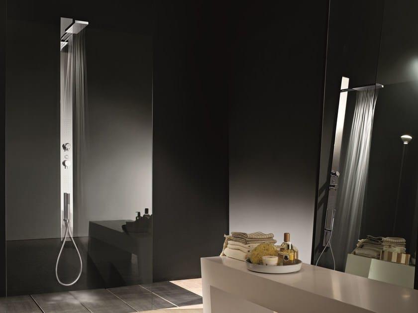 Wall-mounted multifunction shower panel ACQUATONICA by Fantini Rubinetti