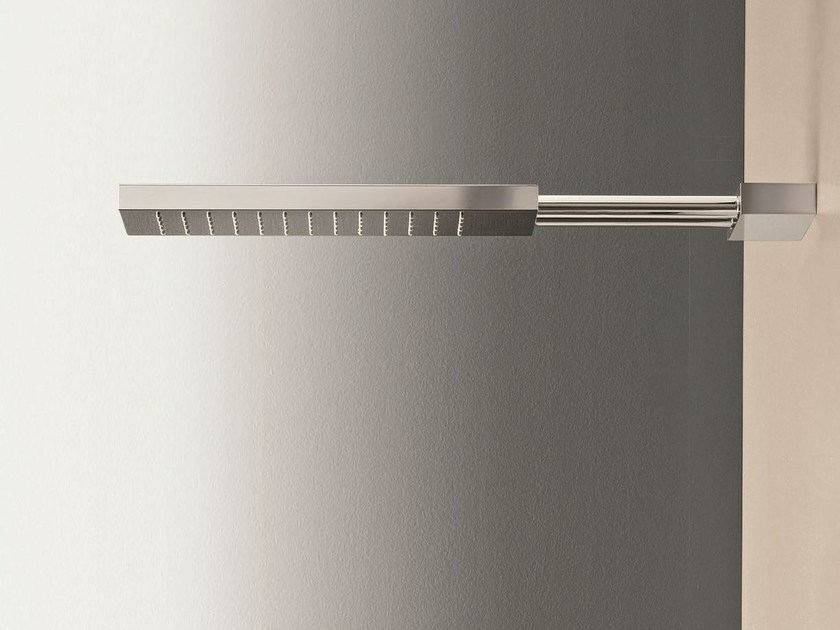 Wall-mounted overhead shower with arm Wall-mounted overhead shower by Fantini Rubinetti