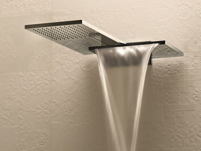 Wall-mounted 2-spray overhead shower MILANO - 8035 by Fantini Rubinetti