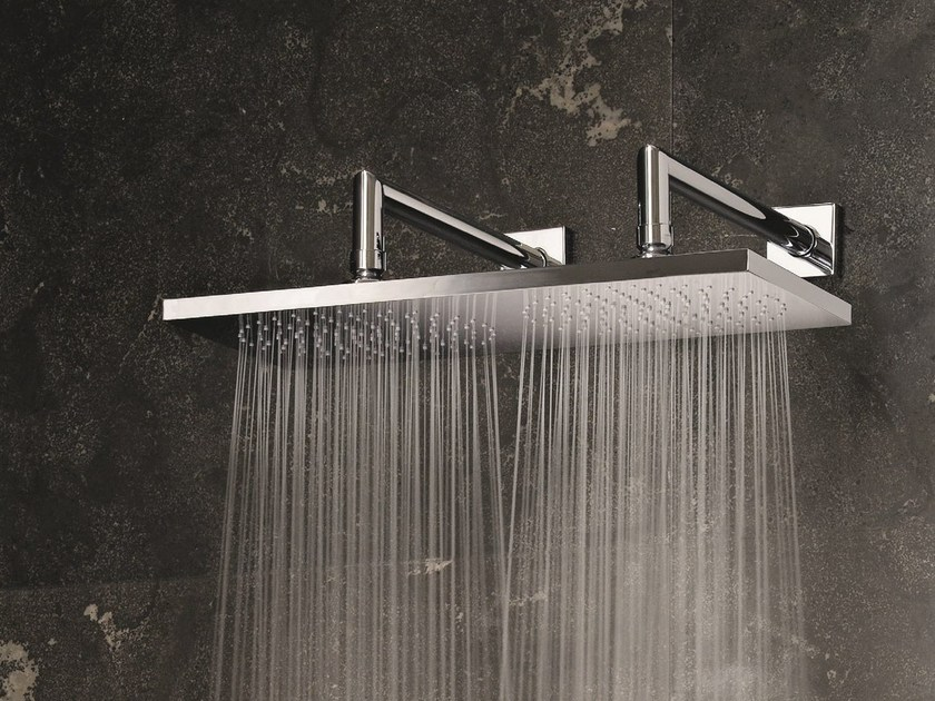 Wall-mounted 2-spray overhead shower 2-spray overhead shower by Fantini Rubinetti