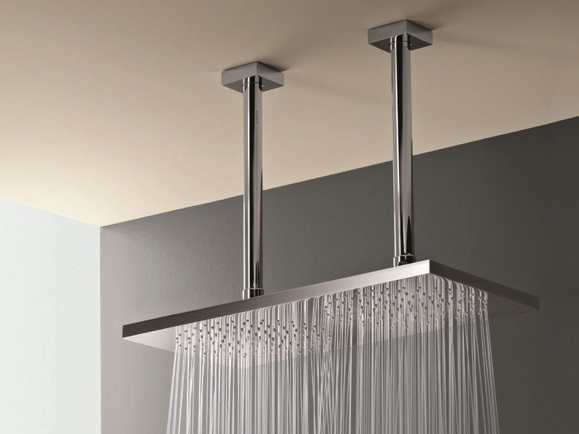 Ceiling mounted 2-spray overhead shower 2-spray overhead shower by Fantini Rubinetti