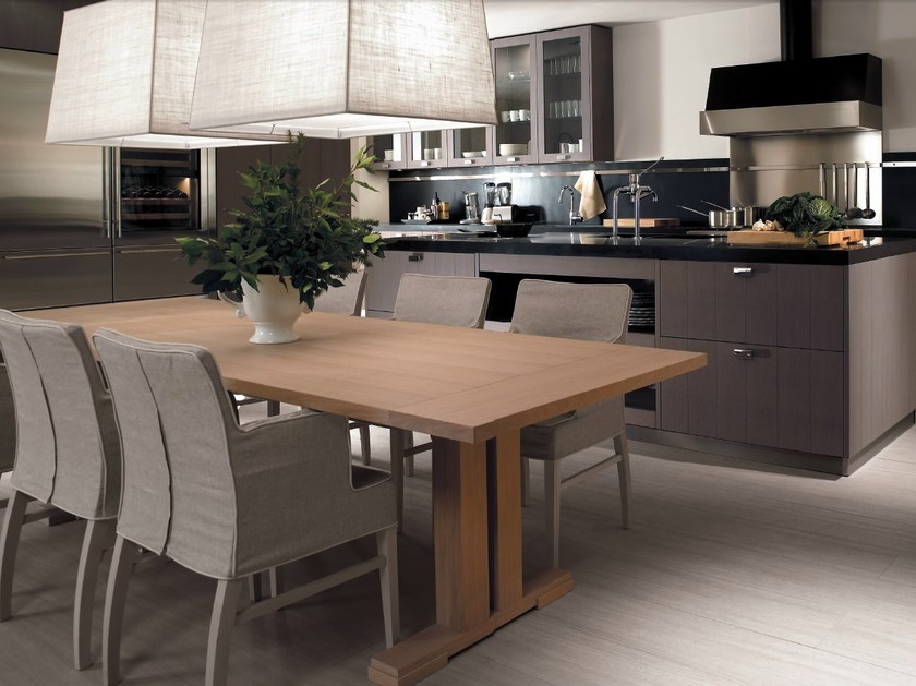 Oak kitchen with island nant a ash gray by toncelli cucine - Cucine toncelli ...