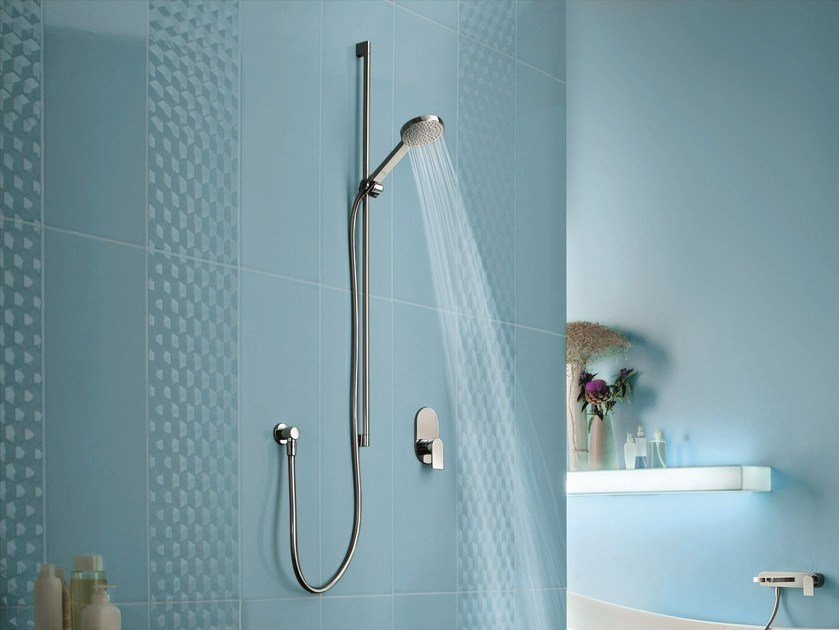 Shower wallbar with hand shower with mixer tap MARE | Shower wallbar by Fantini Rubinetti