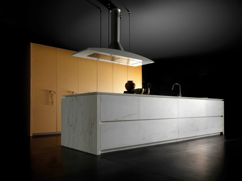 Marble kitchen with island WIND LEATHER AND MARBLE by TONCELLI CUCINE