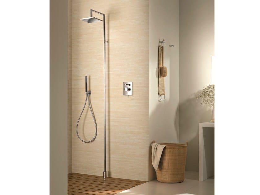 Floor standing shower panel with hand shower with overhead shower Floor standing shower panel by Fantini Rubinetti