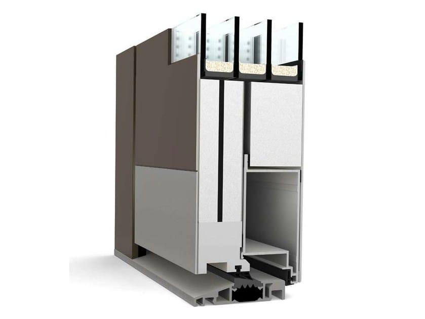 Porta d'ingresso in alluminio AT 410 by INTERNORM Italia