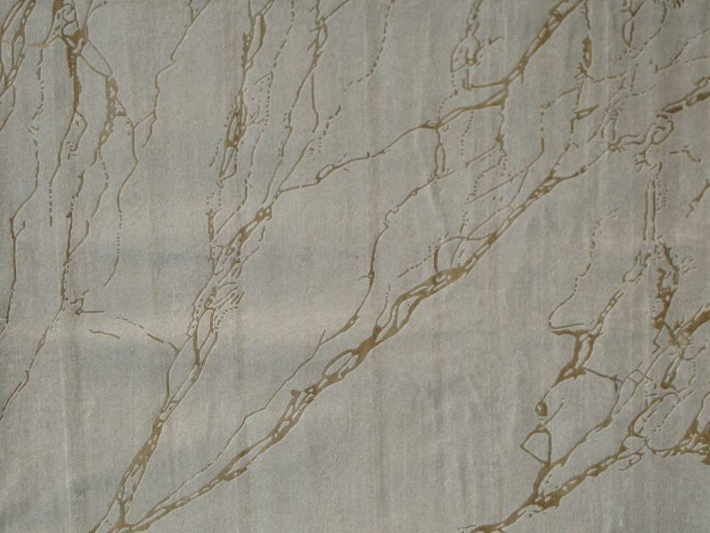 Patterned handmade rug STORM PLATINE by EDITION BOUGAINVILLE