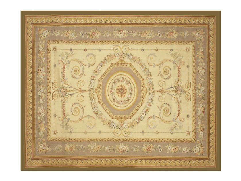 Patterned rectangular wool rug BEAU SEJOUR by EDITION BOUGAINVILLE