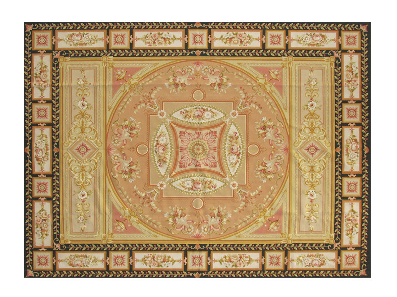 Patterned rectangular wool rug CANTENAC by EDITION BOUGAINVILLE