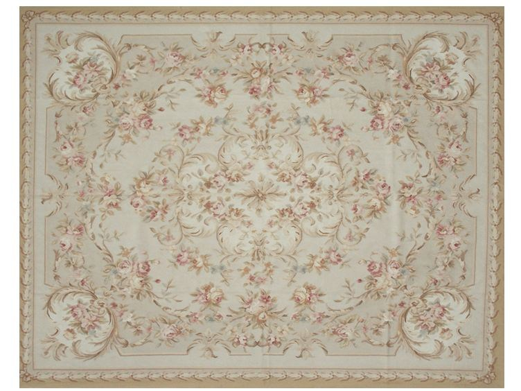 Patterned rectangular wool rug CHAMPFLEURY by EDITION BOUGAINVILLE