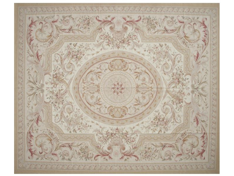 Patterned rectangular wool rug FERRIERE by EDITION BOUGAINVILLE