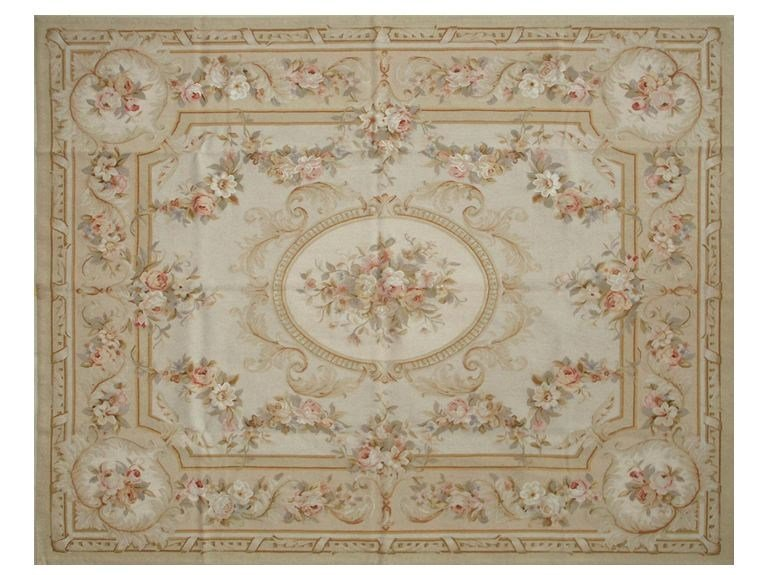 Patterned rectangular wool rug FONTENAY by EDITION BOUGAINVILLE