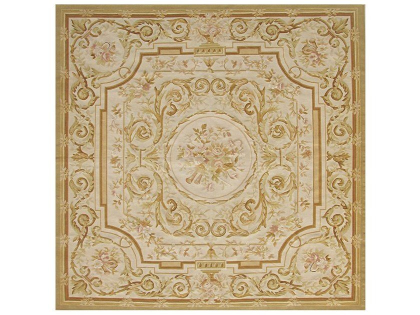 Patterned square wool rug GONZAC by EDITION BOUGAINVILLE
