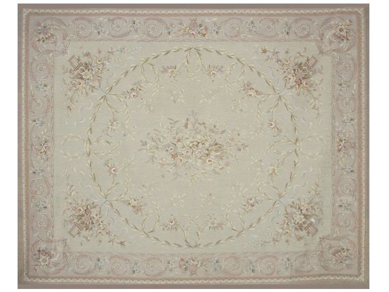 Patterned rectangular wool rug ISABEAU by EDITION BOUGAINVILLE