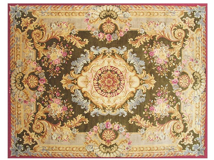 Patterned rectangular wool rug MARGAUX by EDITION BOUGAINVILLE