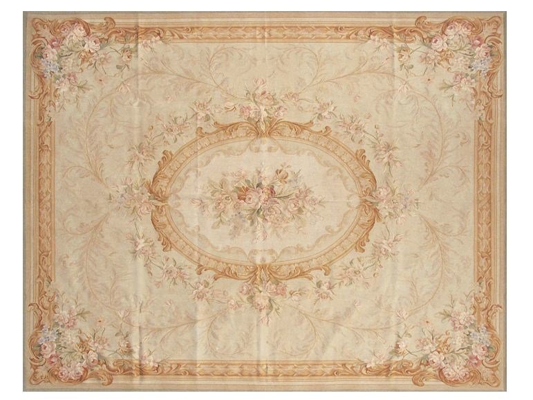 Patterned rectangular wool rug MIRABEAU by EDITION BOUGAINVILLE