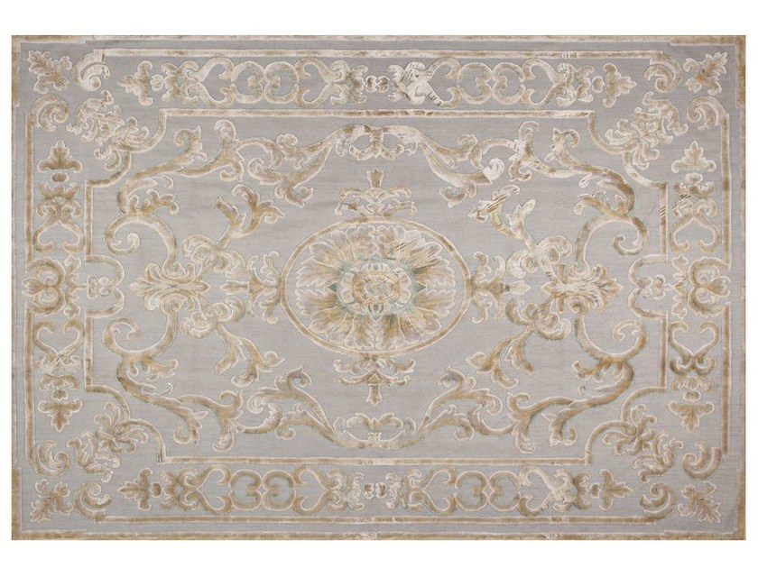 Contemporary style patterned rug POMPADOUR PASTEL by EDITION BOUGAINVILLE