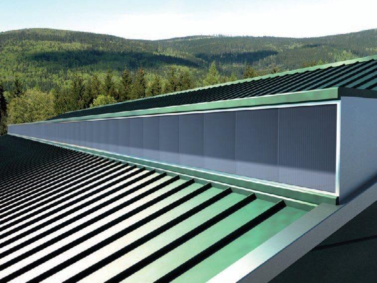 Interlocking modular multiwall polycarbonate system ARCOPLUS® 625 by dott.gallina