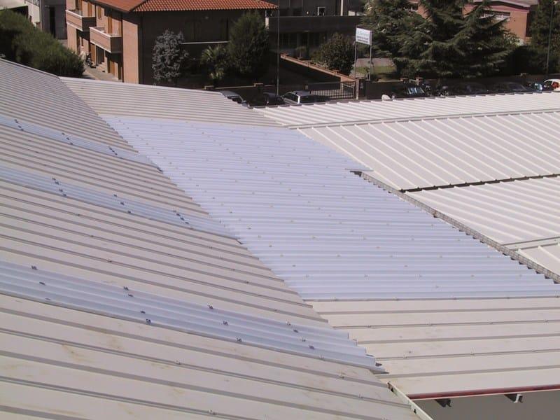 Modular system of corrugated multiwall polycarbonate ARCOPLUS® SUPER 1000 by dott.gallina