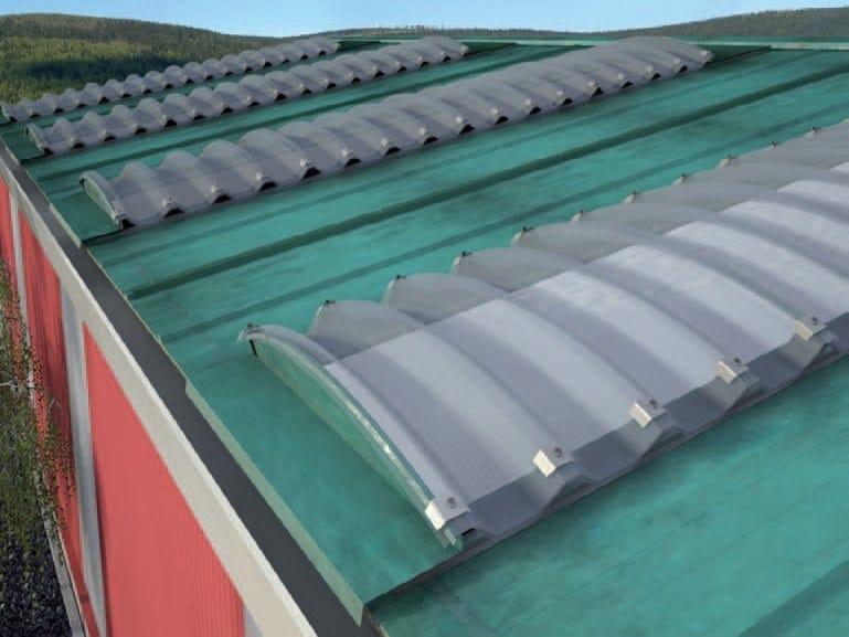 Modular system of corrugated multiwall polycarbonate ARCOPLUS® SUPER 1000 CURVO by dott.gallina