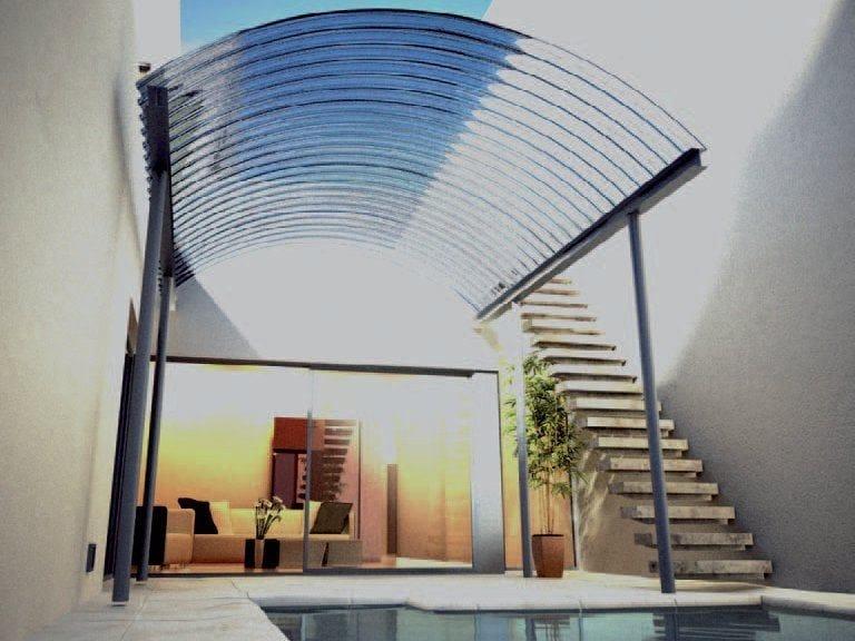 Modular system of corrugated multiwall polycarbonate ARCOPLUS® ONDA CURVO by dott.gallina
