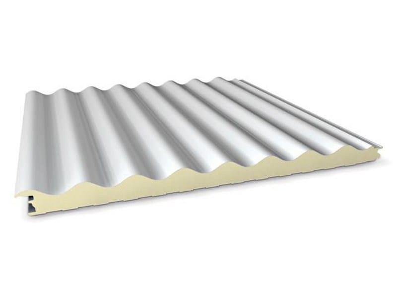Insulated metal panel for facade SUPER TOP ONDULATO by ITALPANNELLI