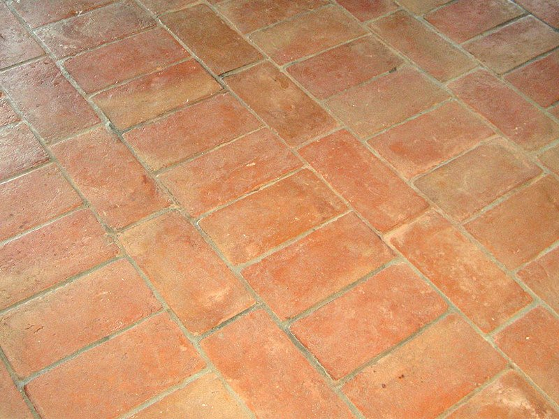 Indoor/outdoor quarry flooring HANDMADE TERRACOTTA by B&B Rivestimenti Naturali