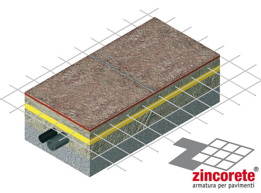 Steel mesh for base layer for flooring ZINCORETE by B&B Rivestimenti Naturali