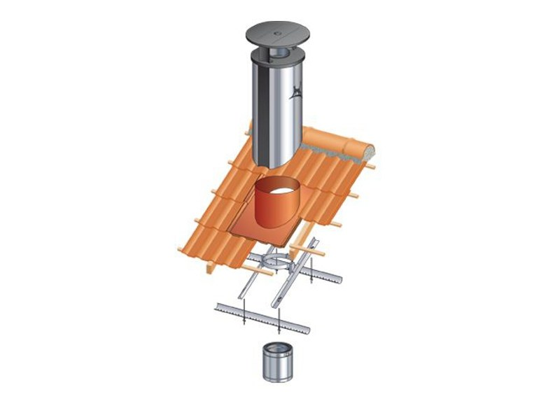 Chimney for roof OPTIMALE by Ala Poujoulat