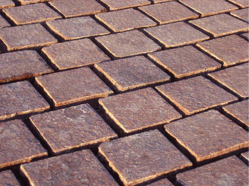 Pavimento per esterni in porfido porfido r2 pavimento per esterni b b rivestimenti naturali - Piastrelle per facciate esterne ...