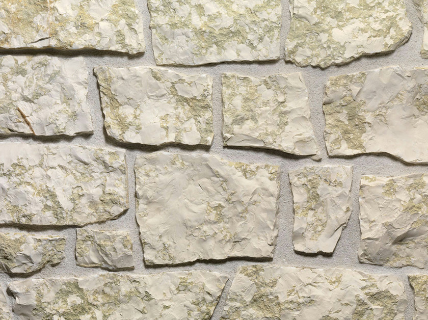 Natural stone finish BIANCO VERDE | Natural stone wall tiles by B&B Rivestimenti Naturali
