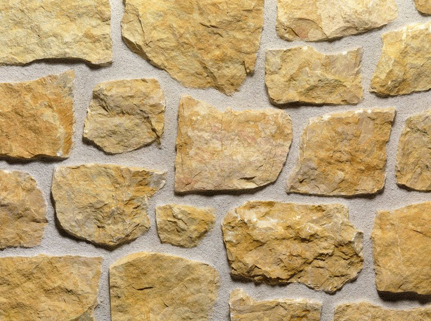 Natural stone finish GIALLO REALE | Natural stone wall tiles by B&B Rivestimenti Naturali