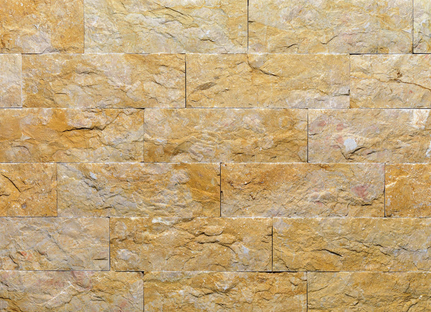 Natural stone finish GIALLO REALE TR | Natural stone wall tiles by B&B Rivestimenti Naturali