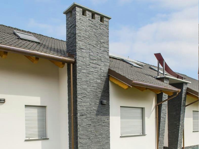 Scaglia nera revestimiento de pared de piedra natural by - Fachadas de piedra natural ...