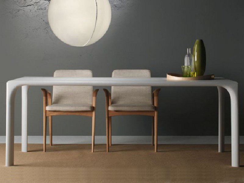 Lacquered rectangular wooden dining table SINTESI | Lacquered table by LINFA DESIGN