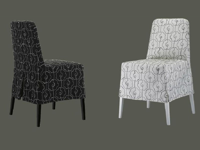 Upholstered wooden chair GLOVE by Linfa Design