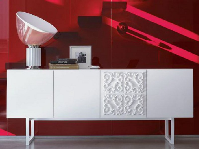 Wooden sideboard with doors ADORNA by Linfa Design