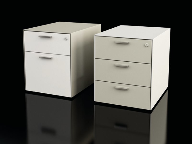 Metal office drawer unit with casters BORDINO PED by Dieffebi