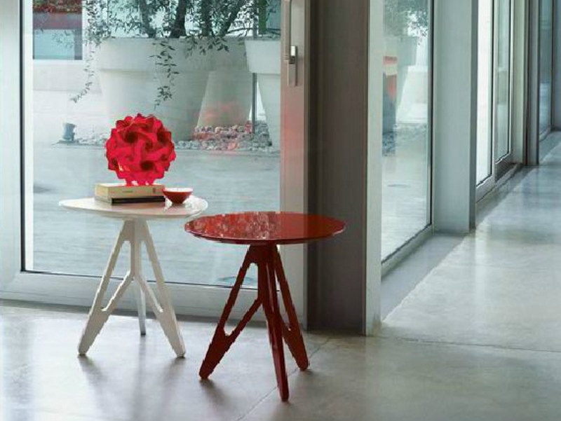Round solid wood coffee table EASY by LINFA DESIGN