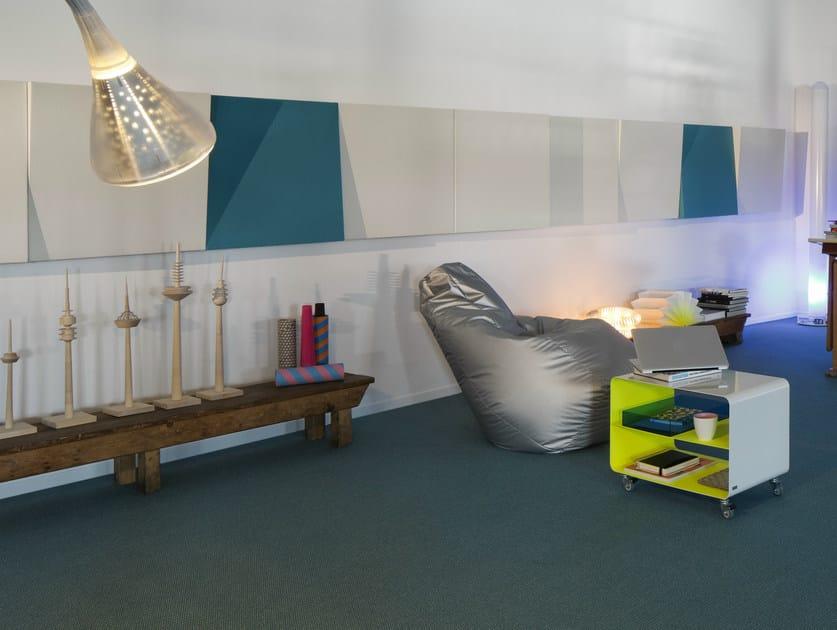 Fabric decorative acoustical panel MOVE by Carpet Concept